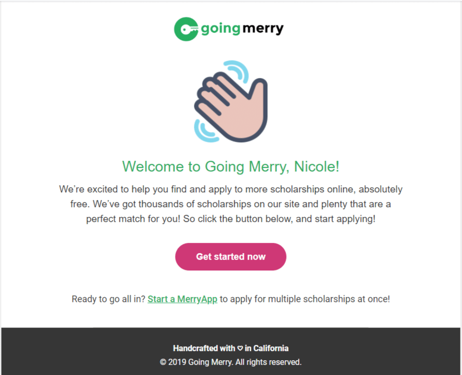 How to use Going Merry scholarship finder