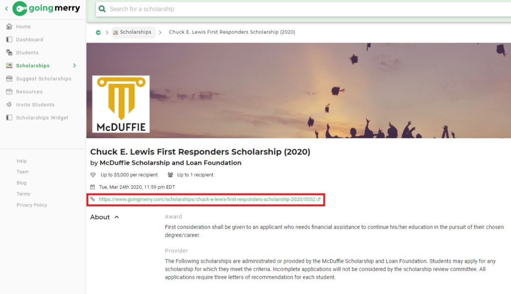 Share Scholarships Going Merry Scholarship Platform